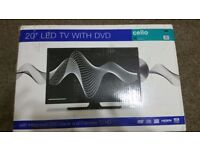 NEW 20inch LED TV with built in DVD player