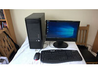 gaming pc core 2 dual 2.93ghz 4gb ram 300hd 1gig radeon vga 19 lcd