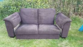 Ikea Tidafors 2 seater dark brown sofa