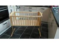 Mothercare wooden swing crib