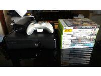 Xbox 360 elite 250 GB + 9 games + controler! perfect condition