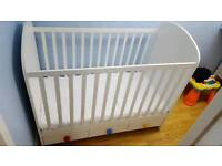 Baby cot bed white IKEA