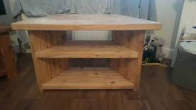 Solid wood tv stand unit