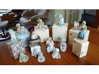 Collection of Cherished Teddies ceramic figures (boxed and unboxed)