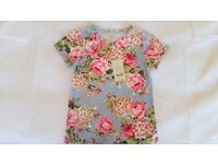 Sutnning Monsoon girls flowery top shirt tshirt BRAND NEW 9-10 age