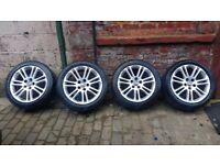 18 inch vauxhall insignia alloy wheels tyres need replacing