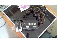Corsair CX600 CMPSU-600CX V2 600 Watt Power Supply PSU PLUS 2 sticks of RAM Corsair 8gb