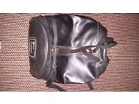 Black motorcycle tote bag