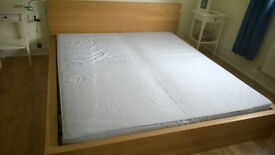 superking MALM bed, perfect condition