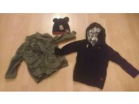 Small Bundle /Jacket , pullover, hat, scarf ,4 x pjs / 2 - 3 years/Next, Reserved, George
