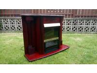 Three Bar Electric Fire And surround
