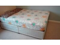 Divan double bed with Orthopaedic Mattress – very good condition