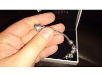 Pandora bracelet and accurist watch