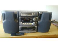 jvc compact MX-D302T hi-fi system with two speakers