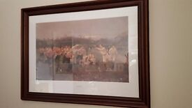 The Rugby Match picture and wooden frame