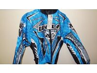 wulfsport jacket motocross motox quad youth junior kids size 32 approx age 11 blue