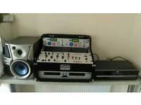 Pro audio citronic cd1 dual cd player, dj mixer citronic am7s mk2