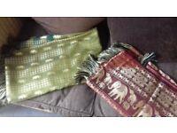 2 silk table cloths