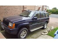 Purple 4 Litre Jeep Grand Cherokee Limited Edition 1998 automatic