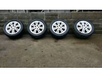 Vauxhall 5 stud alloy wheels with good tyres
