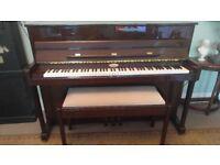 Kemble Oxford Piano - Polished Mahogany - high quality duet stool