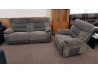 Ex Display SCS Dark Grey Nelson Electric 3 Seater recliner Sofa & Electric Armchair **CAN DELIVER**