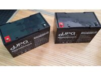 110amp hour batteries x2