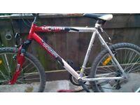 2 mens mountain bikes large framed british eagle aluminium tigercrossfire 26in wheels