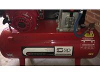 11hp SIP air compressor with electric start 150l tank Honda engine