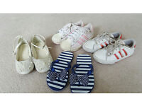 Bundle of Girls Party shoes/sandals/trainers size 11-12 (Monsoon/Adidas)