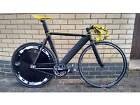 Fixie - Single Speed Aero Bike Bicycle Almost New Campagnolo Wheel Shimano Crank Specialised Brakes