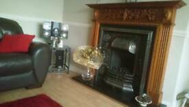 Fire surround,fire and hearth