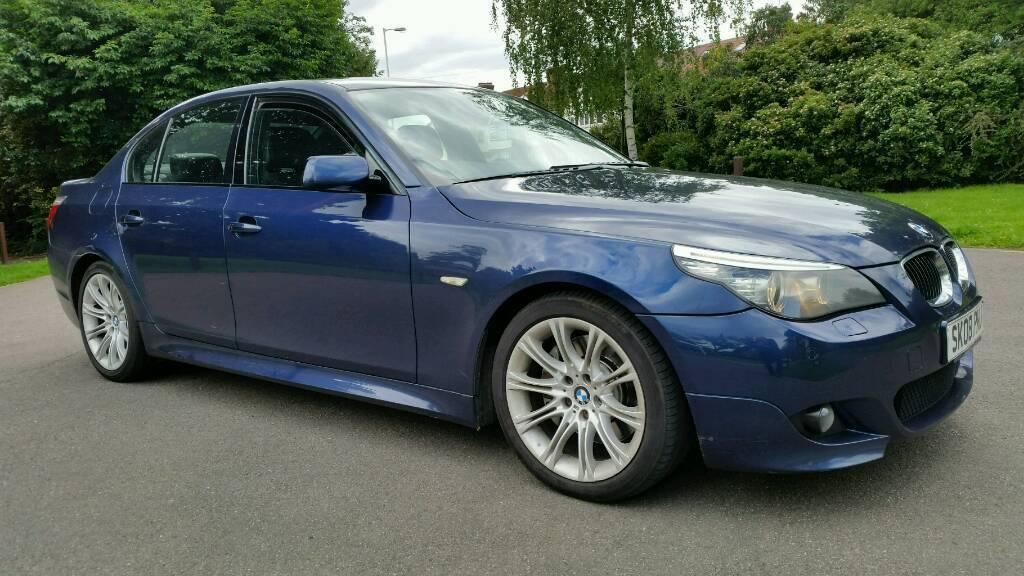 2008 + BMW 530i M SPORT + 4 DOOR MANUAL + TOP SPEC + SATNAV + SPORTS ...