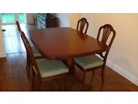 Strongbow by William Bartlet Dining Table and 4 chairs