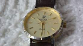 Ladies Gold Rolex Watch with Leather Strap in Great Condition