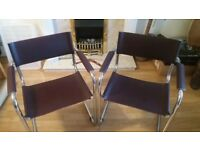 2x leather office chairs