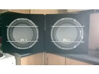 FLI car subs 1000w