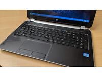 HP Pavilion laptop, i3, 15.6 inch LCD, 8GB RAM, 220GB SSD, good battery.