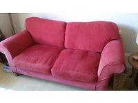 Fabric sofa (burgundy)