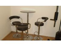 STOOLS AND TABLE