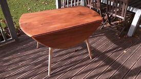Ercol Blonde Circular Drop Leaf Table model 384 (Table number 1)
