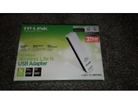 Wireless lite N USB Adapter TL-WN721N Boxed and unused
