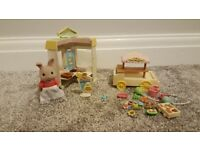 Sylvanian Families - Crepe Stand and Toy Wagon