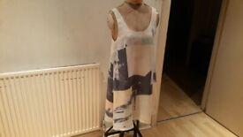 WILFRED Silk Designer Dress. Size : M