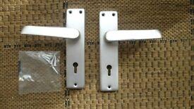Replacement aluminum door handle set