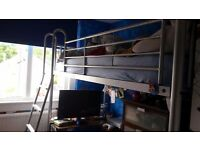 GREY METAL FRAME BUNK BED
