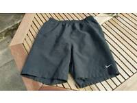 Nike fit black running shorts - small