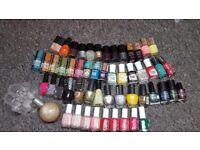 Nail extension lamp , tools sterilizer, nail drill, nail polishes, nail tips, pedicure, manicure