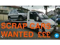 SCRAP CARS WANTED 07411147032