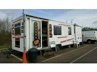 Burger van and seating area for sale